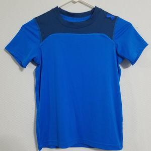2/$20 Under Armour Boys Small Heatgear Blue Shirt
